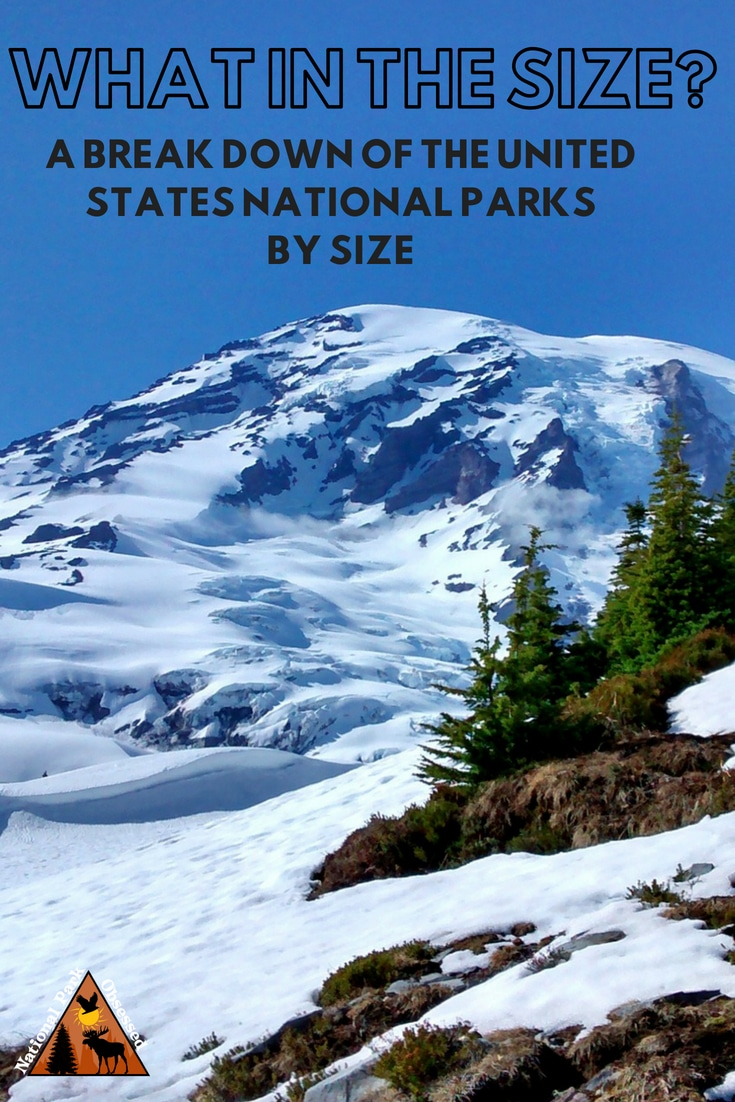 The United States National Parks have been inspiring generations.  The parks come in all sorts of sizes.  Here is a breakdown of the National Parks by size.  