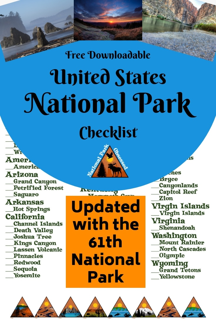 Are you on a quest to visit all the United States National Parks?  Here is a free National Park Checklist download to help you track your progress.