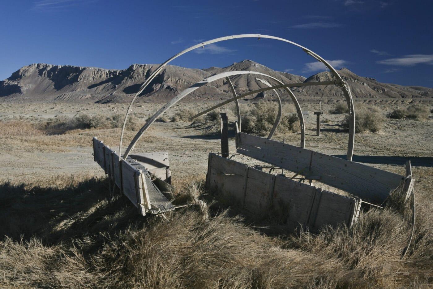 CaliforniaNational Historic Trail  - broken wagon