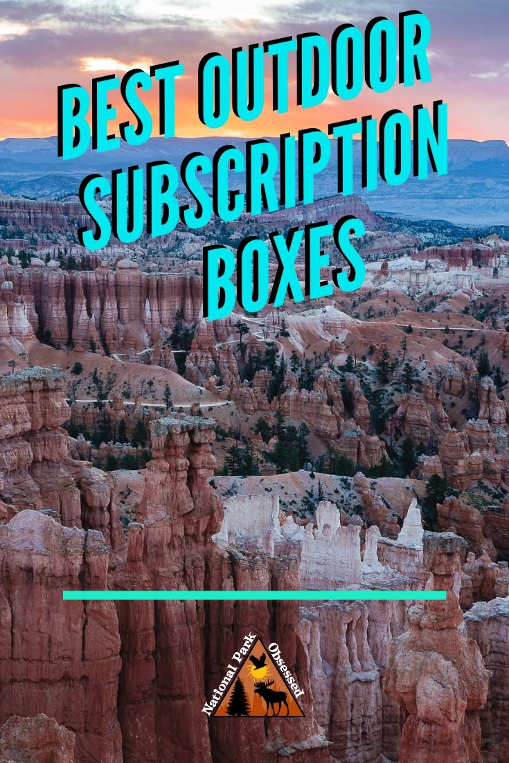 Considering getting the outdoor lover in your life new gear.  Check out these amazing outdoor subscription boxes.  We have curated the best boxes available.  #outdoorproducts #subscriptionbox #wildwomen #hikercrate #islebox #nomadik #cairn #nationalparks #outdooradventure