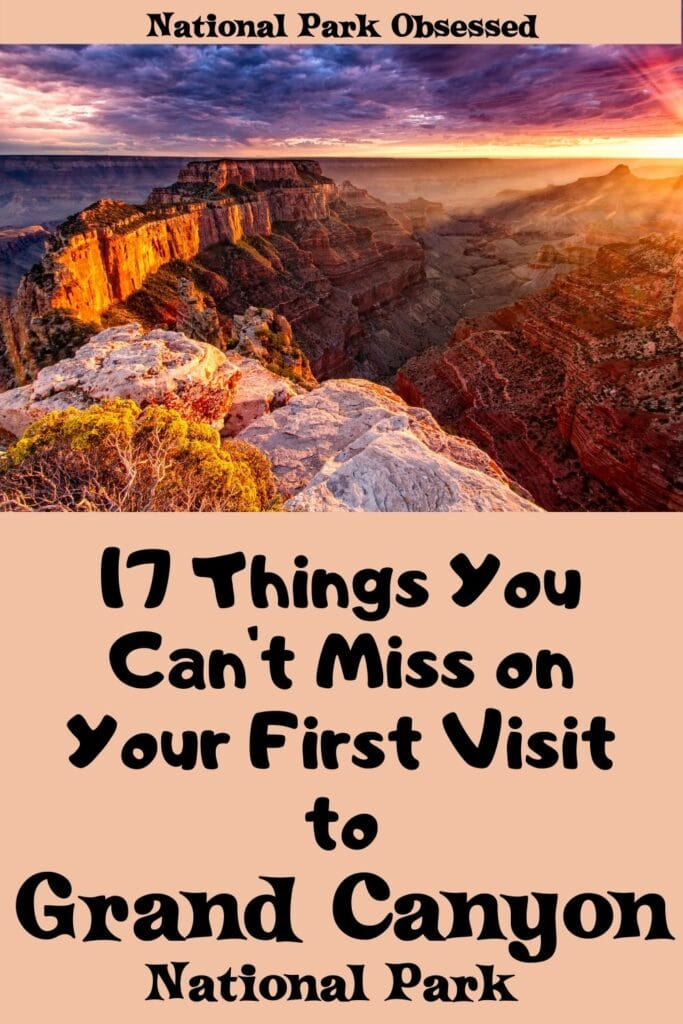 Click here to see the 17 things you can't miss on your first visit to Grand Canyon National Park. Find out what hikes, views, and spots to make the most of your first trip to the Grand Canyon.  things to do in the Grand Canyon / things to do Grand Canyon / Grand Canyon National Park things to do / what to do in the Grand Canyon #grandcanyon