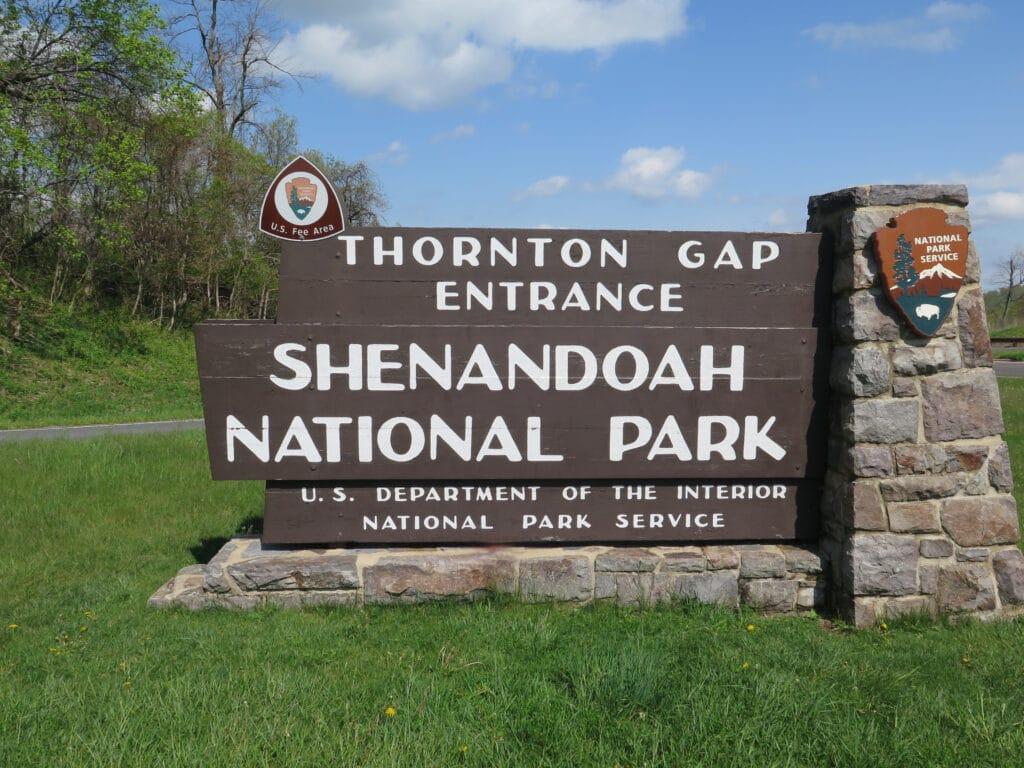 Shenandoah Entrance Sign -