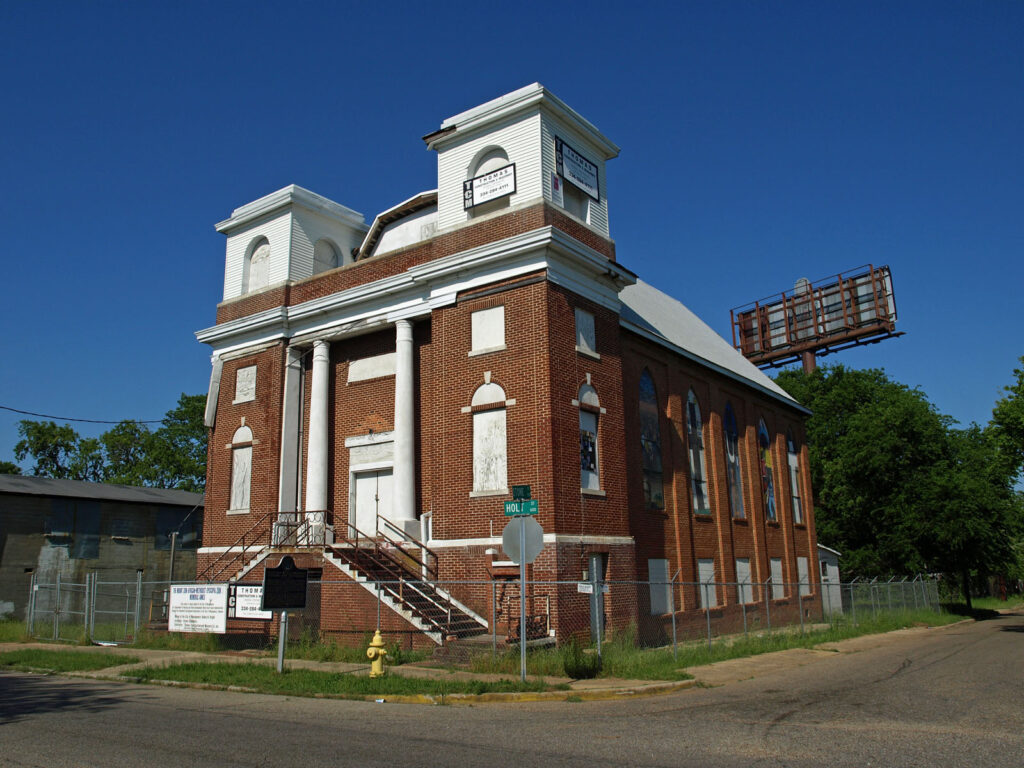 A church along the Selma to Montgomery National Historic Trail