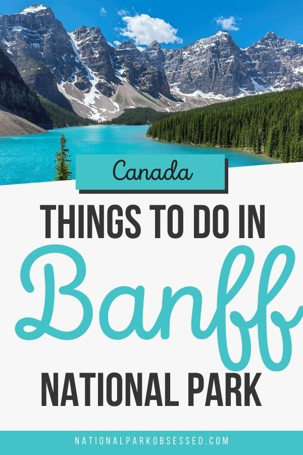 Click HERE to learn about the best things to do on your first visit to Banff National Park. Check out the hikes, sights, and lakes as you explore Banff.   #banff #banfffnationalpark / Things to do in Banff National Park / Banff National Park things to do / fun things Banff