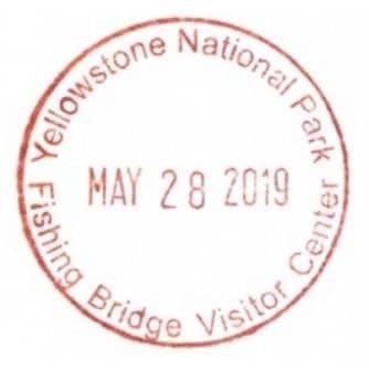 National Park Passport Stamp - Fishing Bridge Visitor Cetner