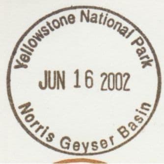 National Park Passport Stamp - Norris Geyser Basin