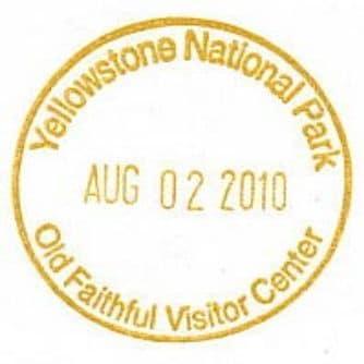 National Park Passport Stamp - Old Faithful Visitor Center