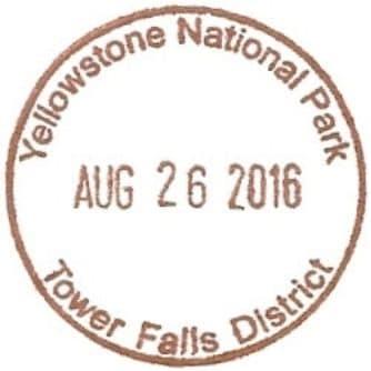 National Park Passport Stamp - Tower Falls District