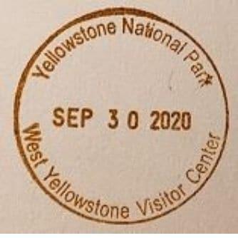 National Park Passport Stamp - West Yellowstone Visitor Center