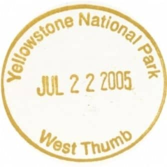 National Park Passport Stamp - West Thumb
