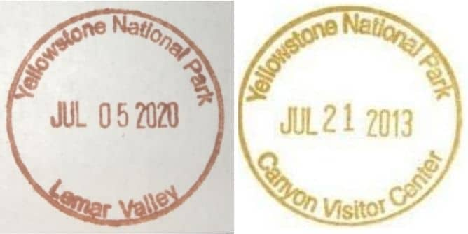 Lamar Valley and Canyon Visitor center -  National Park Passport Stamp