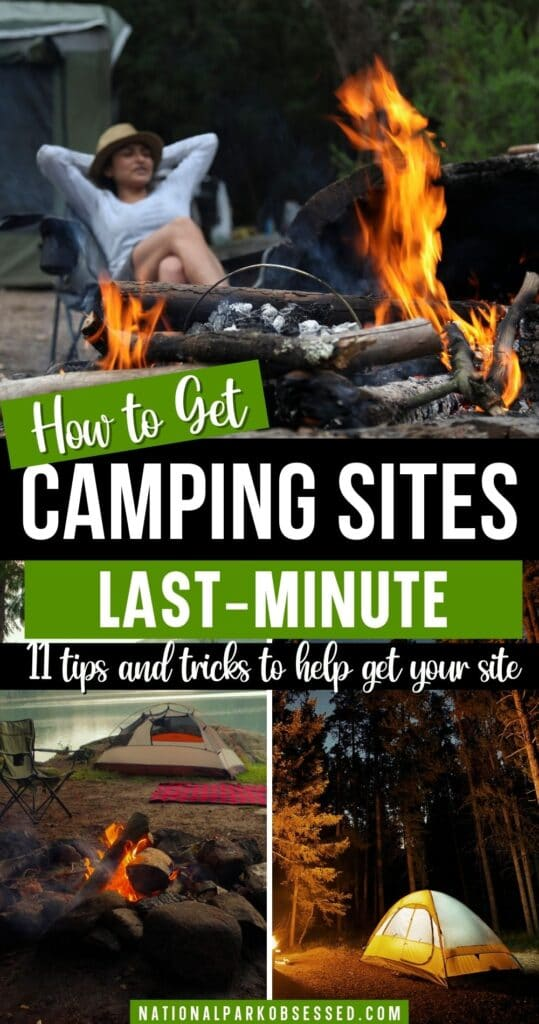 Didn't have a chance to get a camping reservation? Click HERE to learn my BEST first-come, first-serve camping tips.  These tips will help you get your campsite.