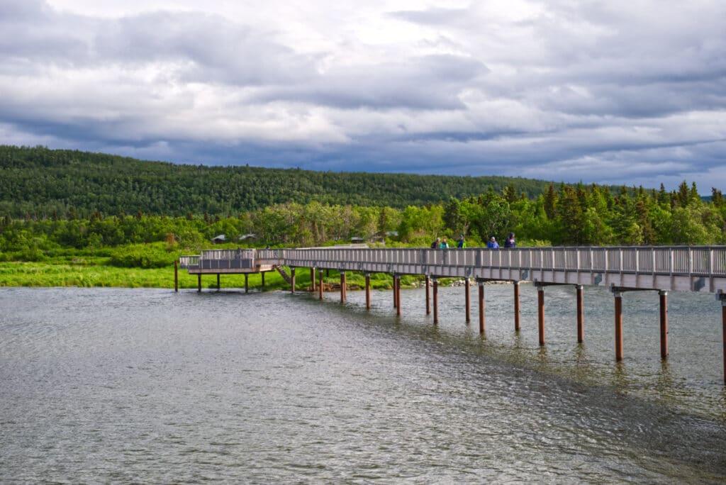The bridge over the Brooks River.