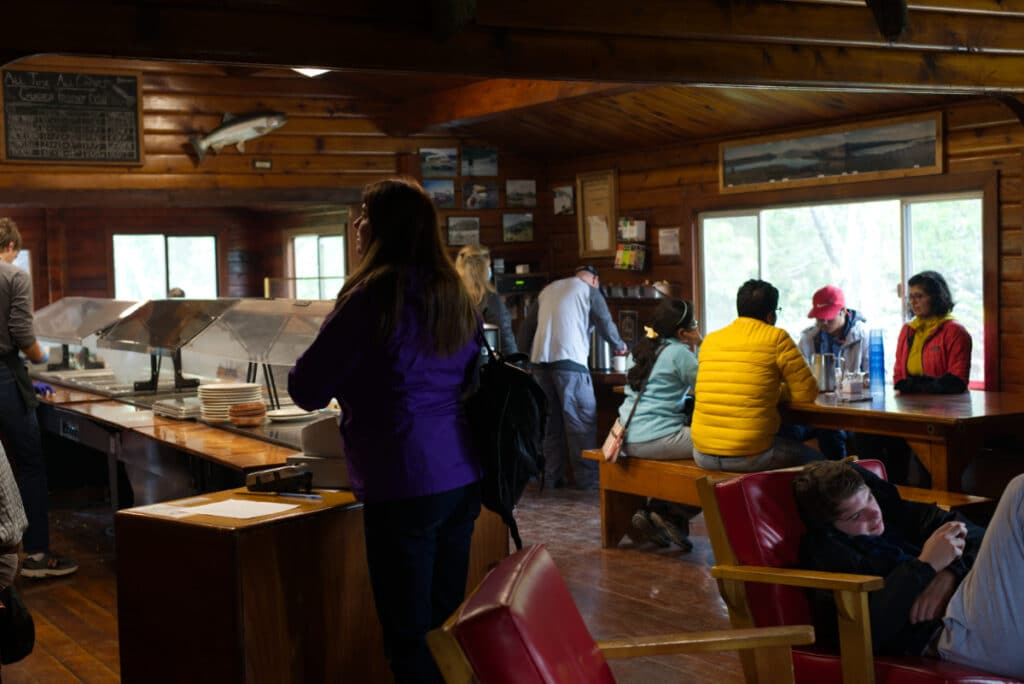 The Buffet Line at Brooks Lodge