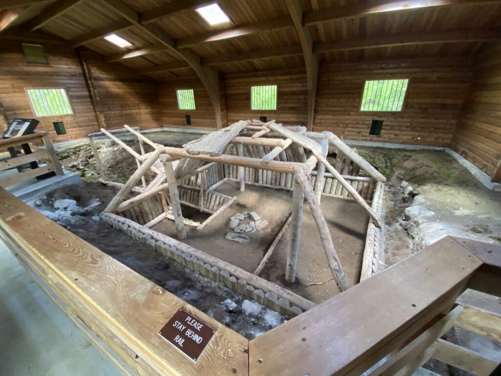 A reconstructed native dwelling in Katmai National Park