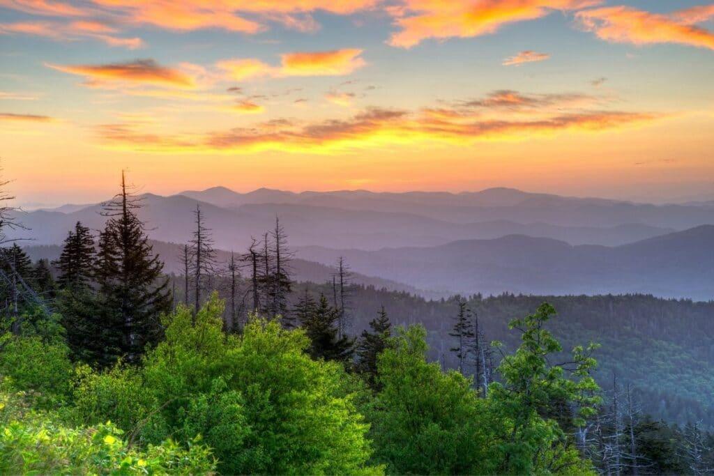 Smoky Hills at sunset