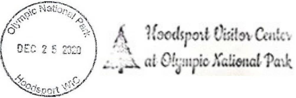 Hoodsport USFS NPS Ranger Station Passport Stamps