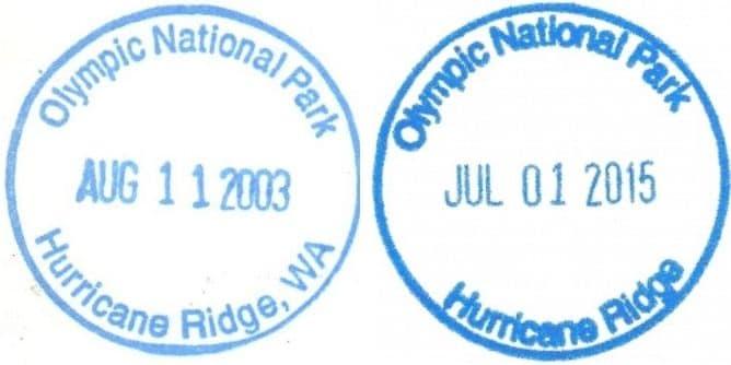Hurricane Ridge Visitor Center Passport Stamps