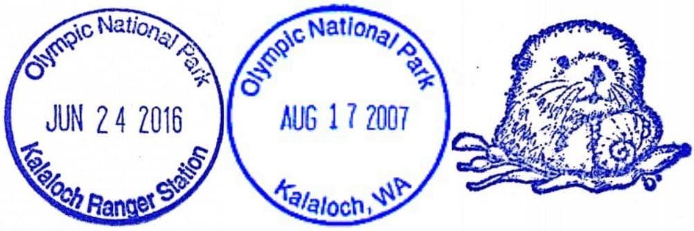 Kalaloch Ranger Information Station Passport Stamp