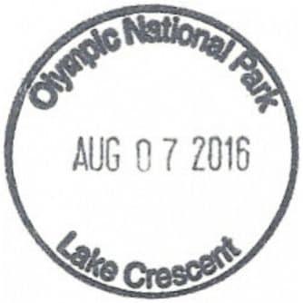 Lake Crescent Lodge Registration Desk Passport Stamp
