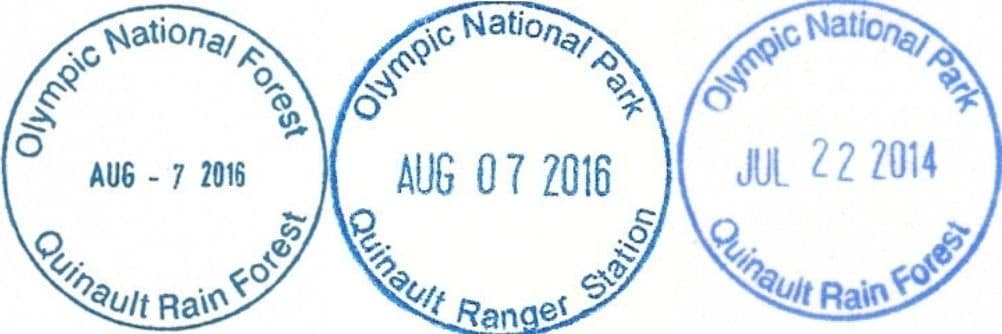 Olympic National Forest Quinault USFS NPS Ranger Station Passport Stamp