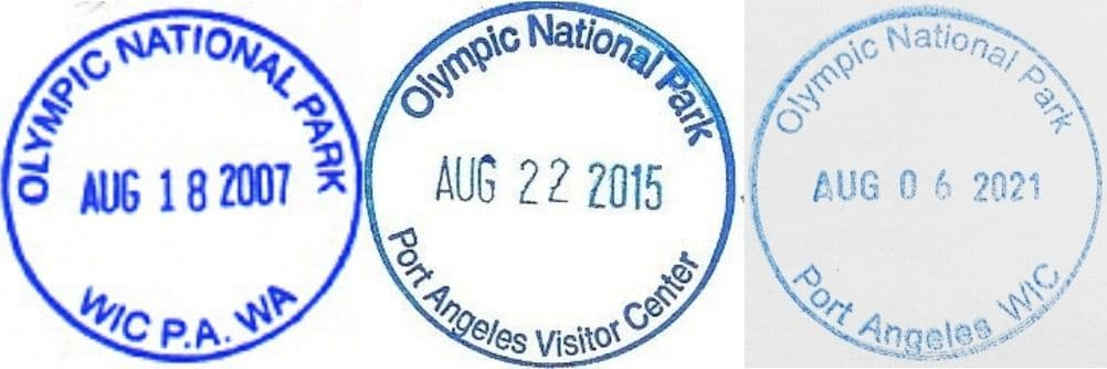 Olympic National Park Visitor Center Passport Stamp