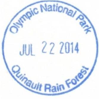 Quinault Rain Forest Ranger Station Passport Stamp