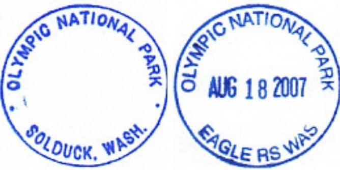 Sol Duc Entrance Station Passport Stamps