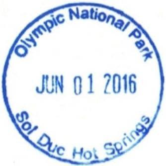 Sol Duc Hot Springs Resort Registration Desk Passport Stamp