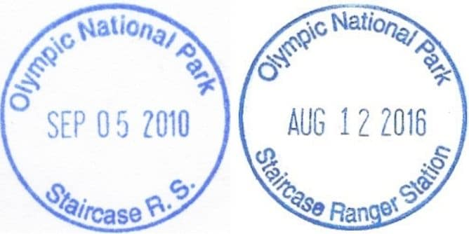 Staircase Ranger Station Passport Stamps